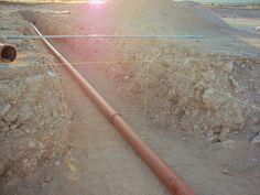 Κεντράρισμα αγωγού σε κανάλι-χαντάκι διασταύρωσης
