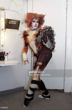 Marlene Danielle looking kittenish backstage at the Winter Garden Theater. She has been a cast member in the Broadway show 'Cats' for the past 18 years.