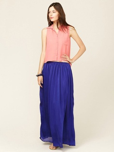 Lace Trim Maxi Skirt by Isabel Lu