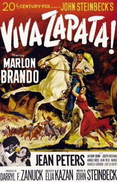 1952 western movies | Viva Zapata! (1952) [Marlon Brando, Jean Peters, Anthony Quinn, Joseph ...