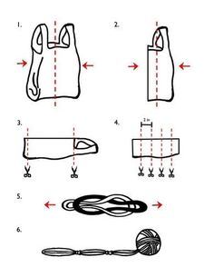 How to recycle plastic grocery bags using the simplest way to make plarn. #crochet #reuse #repurpose