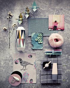 Pastel Moodboard - colours, pretty prints, pattern and texture - fashion & style inspiration Colour Schemes, Color Patterns, Color Palettes, Foto Still, Teintes Pastel, Wall E, Concept Board, Colour Board, Grafik Design