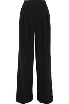 Michael Kors Collection - Crepe Wide-leg Pants - Black - US12