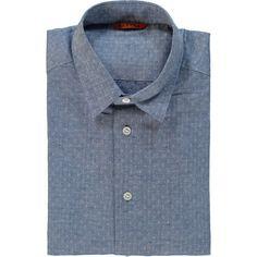 Blue Patterned Long Sleeve Shirt Denim Button Up, Button Up Shirts, Shirt Outfit, Shirt Dress, Tk Maxx, Long Sleeve Shirts, Stylish, Sleeves, Mens Tops