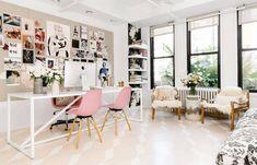 Rebecca Taylor NYC Office Pastel Floor Design