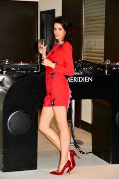 The Flamboyante wearing House of Holland embellished mini dress