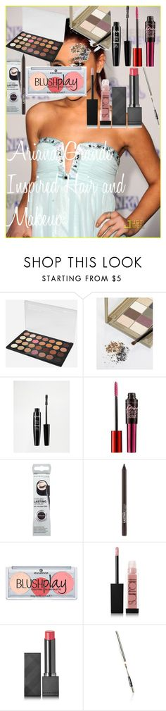 Ariana Grande Inspired Hair and Makeup by oroartye-1 on Polyvore featuring beauty, Napoleon Perdis, Surratt, Burberry, Maybelline, BHCosmetics, NYX and jared