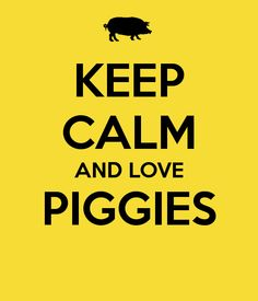 KEEP CALM AND LOVE PIGGIES I swear this was made just for me!!