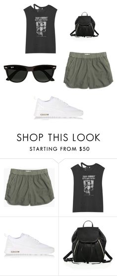 """""""Casual"""" by cutie44 ❤ liked on Polyvore featuring Madewell, R13, NIKE, Rebecca Minkoff and Ray-Ban"""