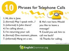 10 Phrases for Telephone Calls