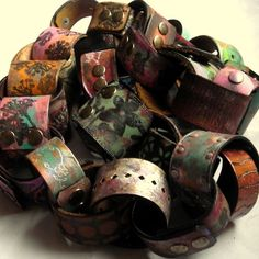 repurpose, recycle, reuse | ♥ my pinky finger ♥ recycled leather belts into cuff bracelts
