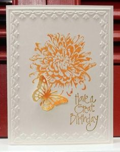 QFTD188 Spiced Marmalade #stampin up card #framed tulips embossing folder