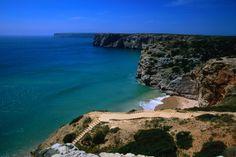 Praia de Beliche,Cabo de Sao Vicente, Portugal    Praia de Beliche and the distant Cabo de Sao Vicente.