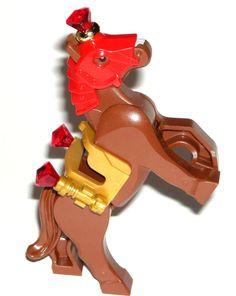 LEGO King's Castle HORSE MINIFIGURE Gold Saddle, Red Royal Mask, Jewel Scepters #LEGO Lego For Sale, Lego Custom Minifigures, Alex Toys, Prince Of Persia, Lego Group, Lego Parts, Cool Lego, Indiana Jones, Pirates Of The Caribbean