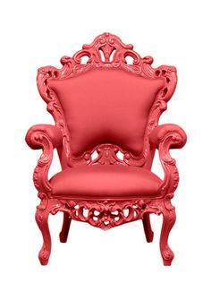 Red Outdoor King Chair - Gilt Home ($500-5000) - Svpply baroque #colorfurniture