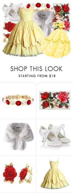 """""""Dapper Belle"""" by fabulousgurl ❤ liked on Polyvore featuring Monet, Dolce&Gabbana, Monsoon, disneybound and BeautyandtheBeast"""