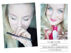 Blogger @nnppil testing our new Lumene True Mystic Volume Mascara and Precise Tip Eyeliner. And she loved both of them! #mascara #eyeliner #lumene