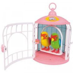 Little Live Pets My Love Birds is a pair of toy birds with a love theme that sing, tweet, and repeat what you say.