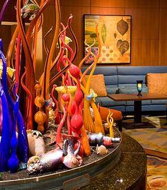 Lobby of Seattle Waterfront Marriott. Live in Seattle http://www.bluefernproperties.com/listings/areas/68325/