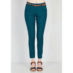 Situationally Savvy Pants in Lagoon ($15) ❤ liked on Polyvore featuring pants, suit trousers, suit pants, pocket pants, slacks pants and teal pants