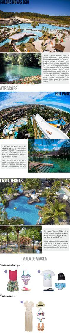 2 Destinos brasileiros para aproveitar as férias de Julho com as crianças! | Viagem: Caldas Novas. #destino #brasil #viagem #férias #crianças #escolares #beleza #natureza #refúgio #descanso #diversão #looknowlook