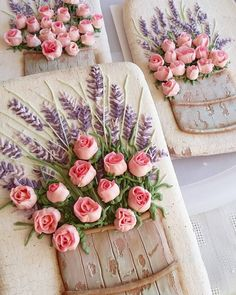 Beautiful cookies with small roses