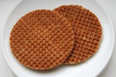 Stroopwafel Dutch Syrup Waffle Cookies - NumsTheWord - I Cook Different Waffle Recipes, Cookie Recipes, Dessert Recipes, Breakfast Recipes, Dutch Cookies, Beaux Desserts, Dutch Recipes, Breakfast, Healthy Recipes