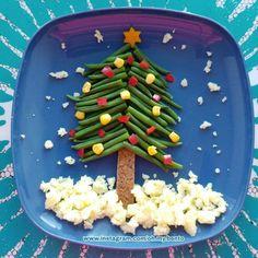 Christmastree bento - kerstboom bento - kerst bento