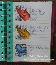 From Copic Marker Europe Blog - Wenda's copic color combos