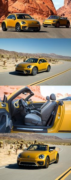 2016 Volkswagen Beetle Dune Production Spec Revealed in LA Vw Beetle Convertible, Vw Cabrio, Vw Eos, Vw Super Beetle, Volkswagen New Beetle, Safari, Porsche Sports Car, Transporter, Futuristic Cars