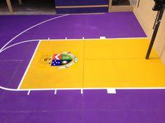 Basketball Court Concrete Overlay Install for Delta Tau Delta Fraternity at the University of Arizona in Tucson - By Arizona Concrete Designs, LLC - Decorative Concrete Kingdom