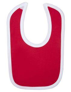 Blank Velcro Fastening Bib Contrast (Red/White)
