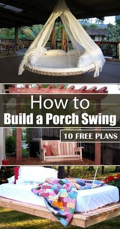 Check how to build your own porch swing