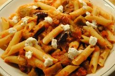 awesome Penne with Extremely Spiced Eggplant Sauce