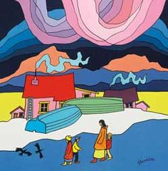 Yukon painter Ted Harrison celebrated in biography CBC News Canadian Painters, Canadian Artists, Canadian Identity, Ted, Latino Art, Paintings I Love, Naive Art, First Nations, Elementary Art