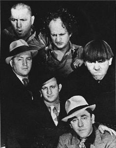 "Jerome (""Curly"") Howard, Larry Fine and Moe Howard"