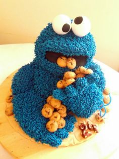 Cookies Monster - by Gulodoces @ CakesDecor.com - cake decorating website