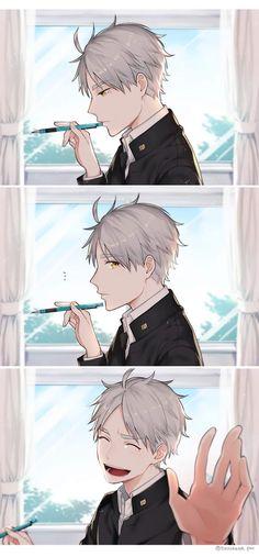 HAIKYUU - Suga looks so manly in the first panel Anime Boys, Manga Anime, Fanarts Anime, Cute Anime Guys, Anime Characters, Anime Art, Sugawara Haikyuu, Daisuga, Haikyuu Fanart