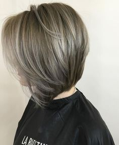Gray Hair Color Ideas for Short Hairstyle 2017 for Older Womens