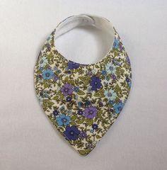Blue & Purple Floral Dribble Bib  £3.00