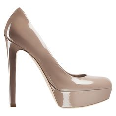 Dior Autumn- Winter 2012 Shoes collection: Taupe patent leather, 13 cm pump. Discover more on www.dior.com