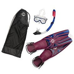 Snorkel Gear Set By Aquarena - Dry Top Snorkel,Fins,Tempered Diving Mask In Maroon and Blue Colors -Mesh Gear Bag For Professionals,Beginners Snorkeling,Spearfishing,Scuba,Divers Aquarena http://www.amazon.com/dp/B01A8Q7NHI/ref=cm_sw_r_pi_dp_fnefxb01SRJ7W