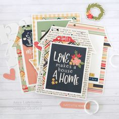 School Scrapbook Layouts, Card Making Templates, Happy Together, Simple Stories, Small Cards, Mini Books, Happily Ever After, I Am Happy, Mini Albums