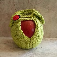 Cotton Hand Knit Lucky Ladybug Apple Cozy Hot Green ** You can find more details by visiting the image link.