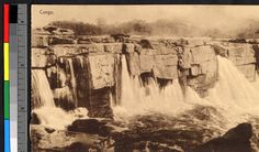 River pouring over rocky falls, Congo, ca.1920-1940. http://digitallibrary.usc.edu/cdm/ref/collection/p15799coll123/id/52405