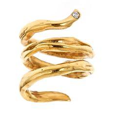 Snake Ring size adjustable 18 K gold plating