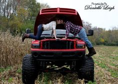 If only it wasnt a dodge...I think joshua and I just might have to take a pic like this on his chevvvvy <3