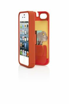 Amazon.com: EYN, Orange Case for iPhone 4/4S with built-in storage space for credit cards/ID/money: Cell Phones & Accessories