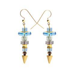 Baroque Earrings Light Blue