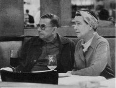I adore this picture of Simone de Beauvoir and Satre. Two ex-lovers sitting peacefully in each others company, most likely after a delicious Parisian lunch stirred on by fiery conversation.